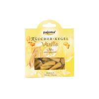 Pajoma Räucherkegel - Vanille, 20 Stk + Halter