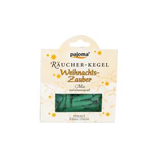 Pajoma Räucherkegel - Weihnachtszauber, 20 Stk + Halter