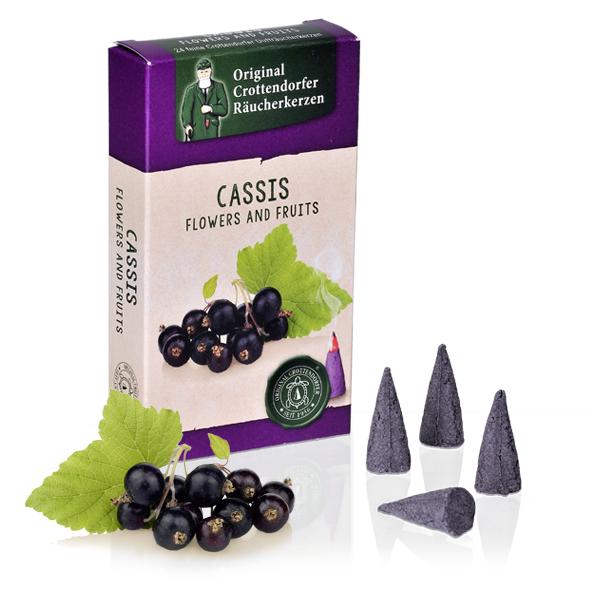 Cassis - Flowers & Fruit, Original Crottendorfer Räucherkerzen