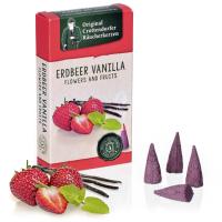 Erdbeer-Vanilla - Flowers & Fruit, Original Crottendorfer Räucherkerzen