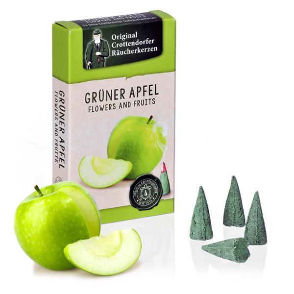 Grüner Apfel - Flowers & Fruit, Original Crottendorfer Räucherkerzen