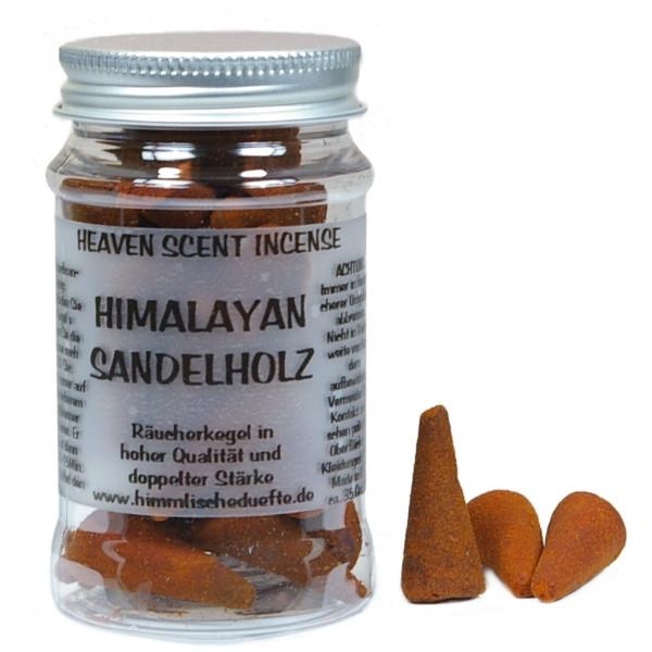 Himalayan Sandelholz - Heaven Scent Räucherkegel in Dose