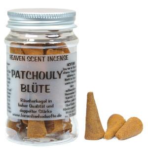 Patchoulyblüte - Heaven Scent Räucherkegel in Dose