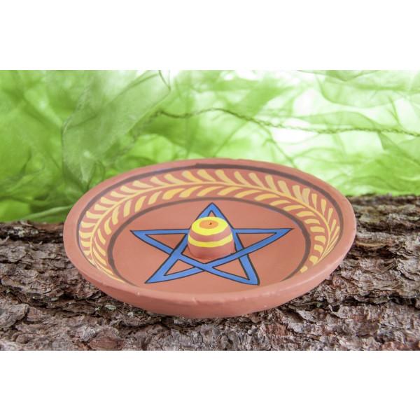 Räucherstäbchenhalter Pentagramm