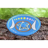 Räucherstäbchenhalter Mondsichel und Pentagramm