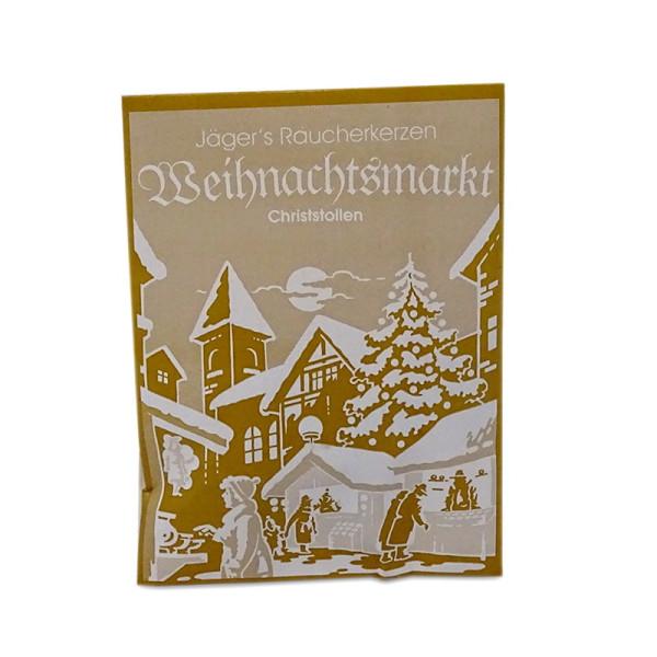 Carl Jäger Weihnachtsmarkt Christstollen Räucherkerzen, Winterliche Düfte