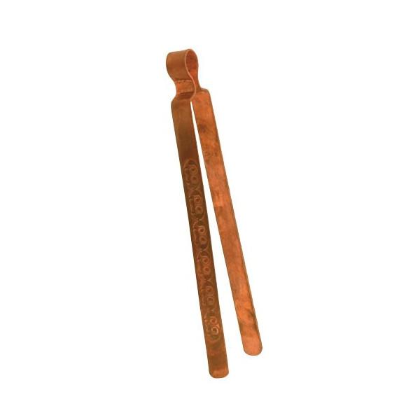 Kupferzange mit Gravur - Räucherbesteck, Räucherzange
