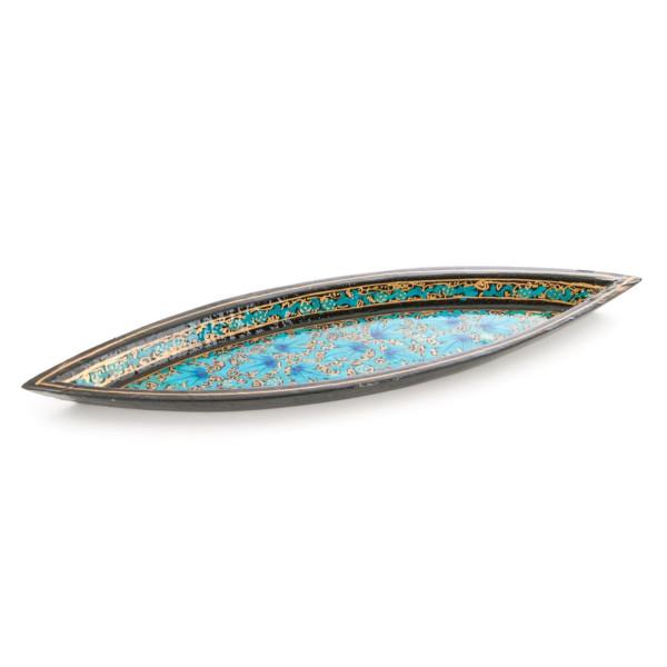 Räucherstäbchenhalter aus Pappmasche - Goldblatt