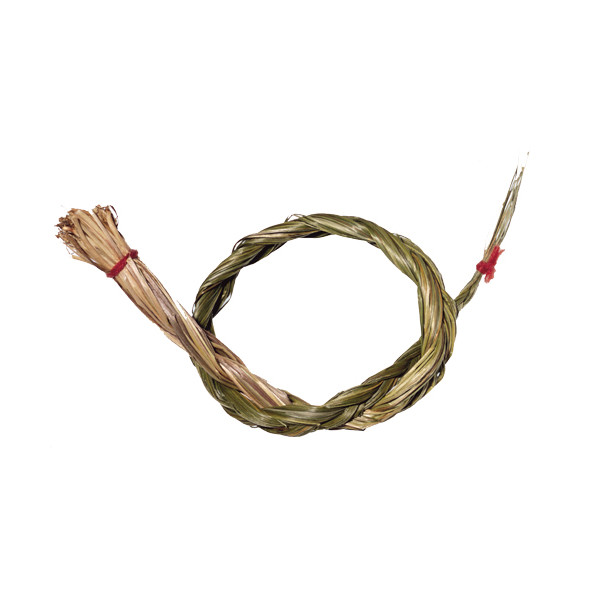 Sweetgrass-Zopf - Reine Kräuter - Indianisches Räucherwerk