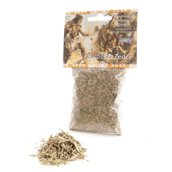 Salbei & Zeder - Reine Kräuter - Indianisches Räucherwerk