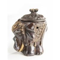 Elefant- Räuchergefäß aus Messing
