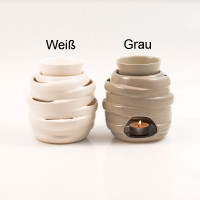 """Pajoma Duftlampe """"Luisa"""" grau Keramik, H 16 x Ø 13 cm"""