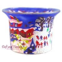 Winterdream - Teelichtglas klein 6,5 x 6,5 x 7 cm