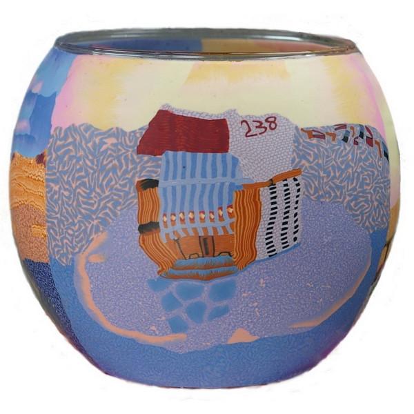 Nordic Sunset - Windlicht Glas 11 x 11 x 9 cm