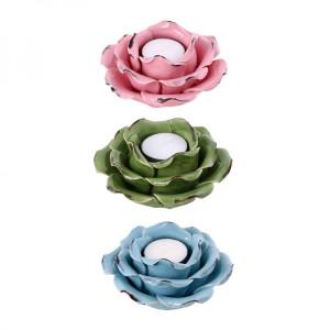 Keramik Rose Teelichthalter
