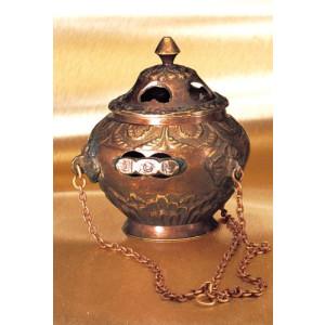 Dragnar - Schwenkräuchergefäß aus Kupfer