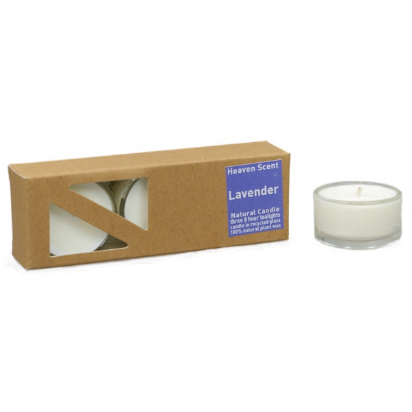 Lavendel - Heaven Scent Teelichter in Glashüllen, 2. Wahl