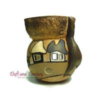 Aromalampe Haus Kugel braun Höhe 9 cm, Seyko-Keramik