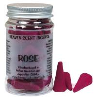 Rose - Heaven Scent Räucherkegel in Dose