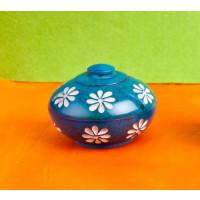 Blumendöschen Speckstein blau