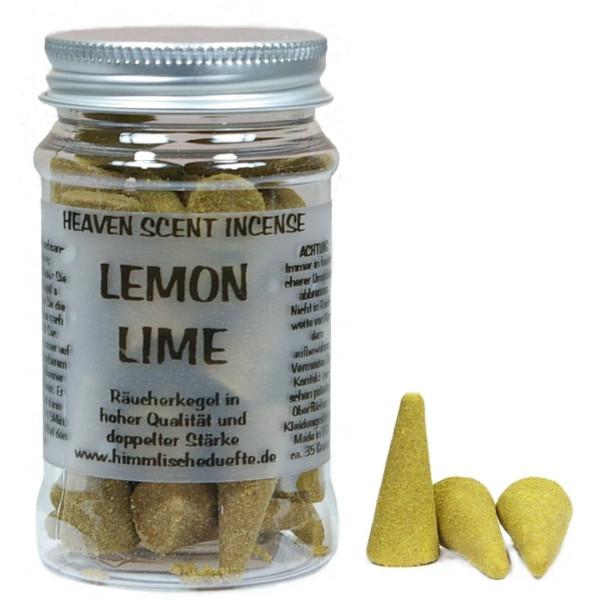 Lemon Lime - Heaven Scent Räucherkegel in Dose