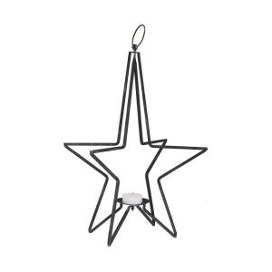 Metall Lanterne Stern Schwarz
