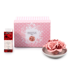 "Premium Duft-Set Keramik ""Rose""..."