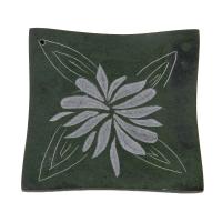 Softstone Räucherstäbchenhalter BLOSSOM grün, Speckstein - FAIR TRADE