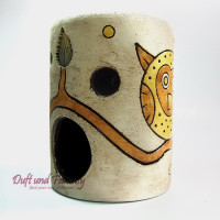 Aromalampe Eule 13 cm, Seyko-Keramik