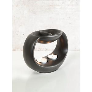 "Pajoma Duftlampe ""Yang"", Schwarz, H 14cm"