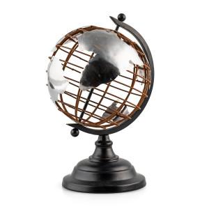 "Globus ""World"" Metall H 25 cm"