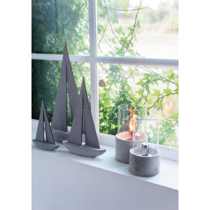 Cement Oil Burner with Glass Small