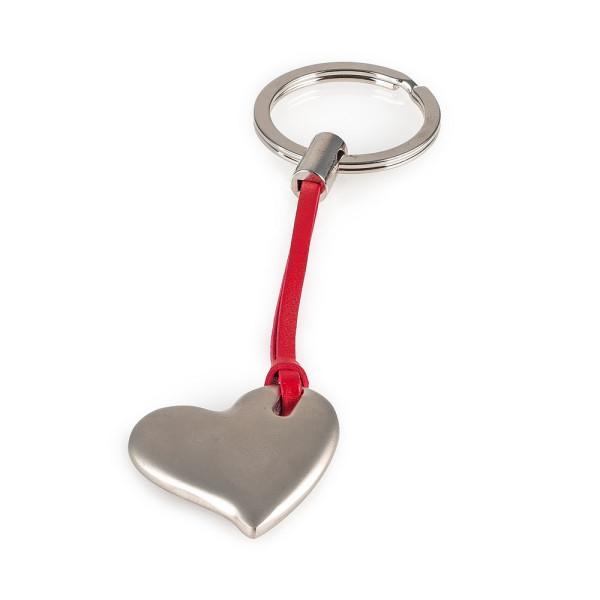 Pajoma Schlüsselanhänger Herz Zink mit Nickelüberzug