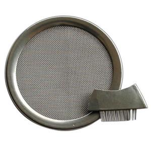 Edelstahl-Räuchersieb mit Bürstchen (6 cm)