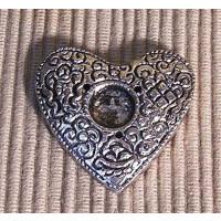 Weißmetallhalter Herz, Räucherstäbchenhalter