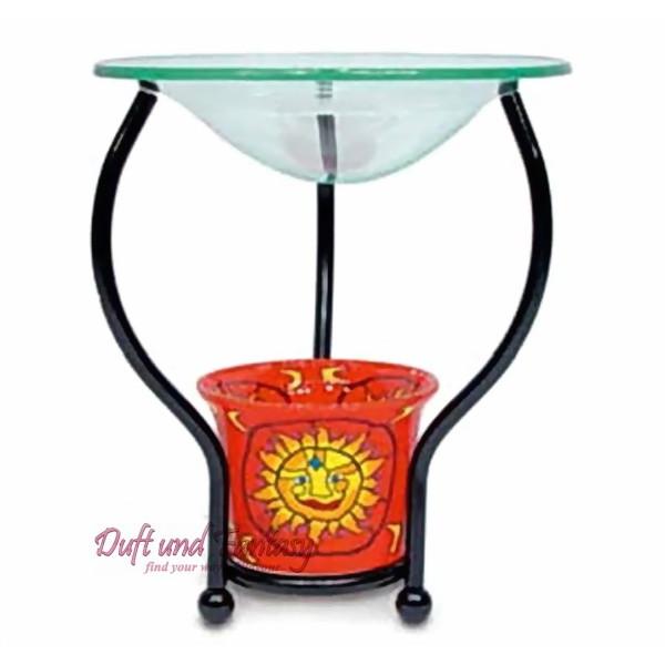 Teelichtglas Aromalampe, Aromalampenständer mit Glasschale