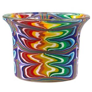 Rainbow - Teelichtglas klein 6,5 x 6,5 x 7 cm