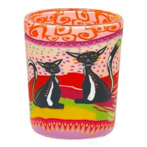 Votivglas, Teelichglas - Two Cats