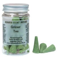 Grüner Tee - Heaven Scent Räucherkegel in Dose