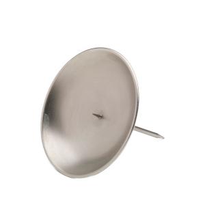 Kranzteller silber, mit abschraubbaren Dorn 8 cm matt
