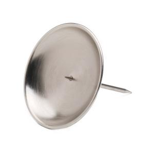 Kranzteller silber, mit abschraubbaren Dorn 10 cm matt