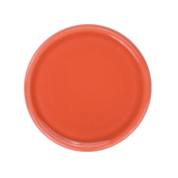 Untersetzer für Duftkeramik, korallrot glasiert, ø7cm (Ausverkauf)
