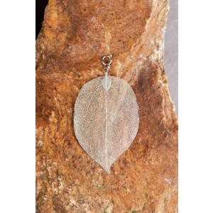 Buddha Blatt mittel, silber - Blatt vom Bodhi Baum