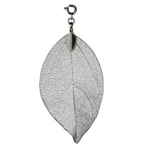 Buddha Blatt klein, silber - Blatt vom Bodhi Baum