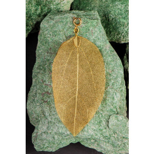 Buddha Blatt groß, gold - Blatt vom Bodhi Baum