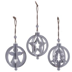 Metall Hänge-Dekoration - Kugelform Engel, Baum, Stern