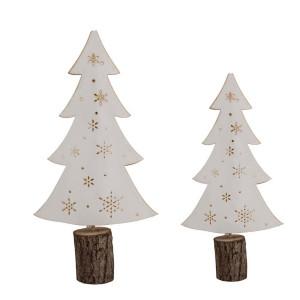 Papier Baum + LED Weiß