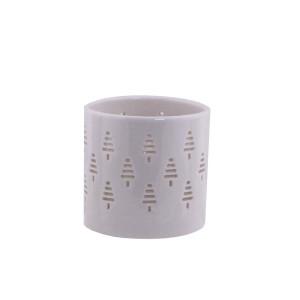 Porzellan Teelichthalter Weihnachtsbaum H: 5 cm