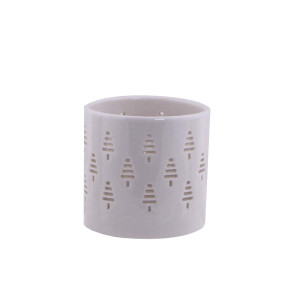 Porzellan Teelichthalter Weihnahtsbaum H: 7 cm