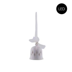 Porzellan Glocke mit LED Beleuchtung Größe S